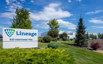 Exterior photo of Lineage's Quincy - International facility