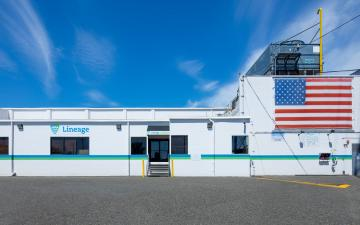 Exterior photo of Lineage's Seattle - Michigan facility