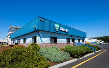 Exterior photo of Lineage's Woodland facility