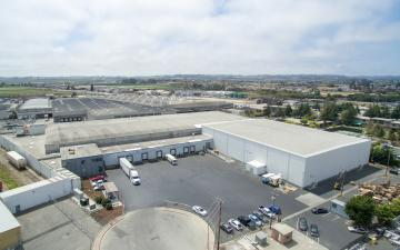 Aerial photo of Lineage's Cascade facility in Watsonville, CA