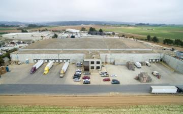 Aerial photo of Lineage's Hilltop facility in Moss Landing, CA