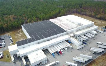 Aerial photo of Lineage's leased facility in Gaston, SC