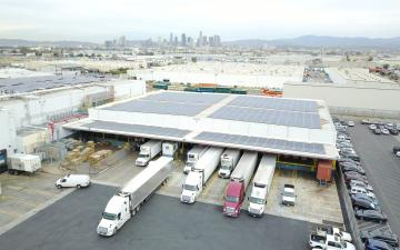 Aerial photo of Lineage's Vernon 6 facility