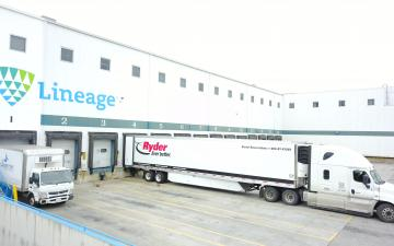 Exterior photo of Lineage's Vernon 1 facility