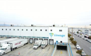 Aerial photo of Lineage's Vernon 2 facility