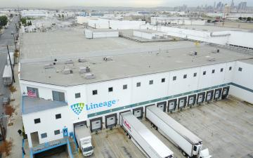 Aerial photo of Lineage's Vernon 1 facility