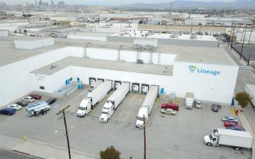 Aerial photo of Lineage's Vernon 3 facility
