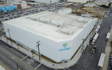 Aerial photo of Lineage's Vernon 8 facility