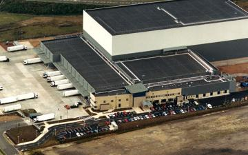 Aerial photo of Lineage's Hams Hall facility