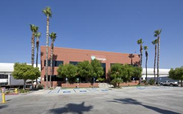Photo of main entrance to Mira Loma facility