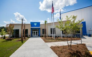 Photo of main entrance to Charleston facility