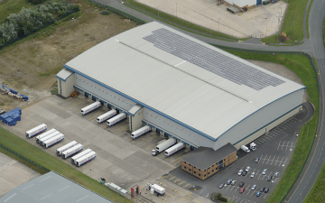 Aerial photo of Lineage's Seaham facility