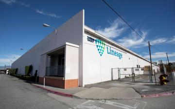 Exterior photo of Lineage's Colton - Barton facility