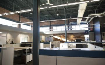Interior photo of the Novi office space