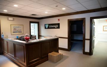 Interior photo of the Lineage Richmond office