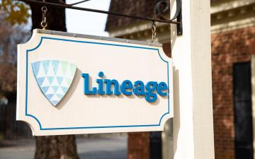 Sign outside of Lineage's Richmond - Radford office