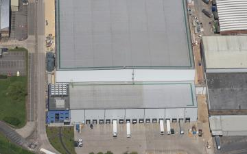 Aerial photo of Lineage's Gloucester facility