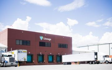 Exterior photo of Lineage's Tremonton facility