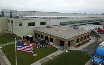 Aerial photo of Lineage's Stevens Point facility