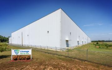 Exterior photo of Lineage's Tar Heel facility