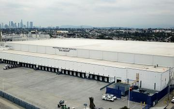 Aerial photo of Lineage's Los Angeles - Los Palos facility