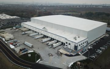 Lineage's Kearny, NJ facility exterior from the air