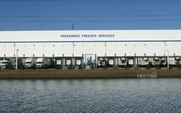 Exterior photo of Lineage's Norfolk (Chesapeake) facility