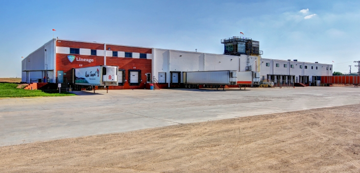 Exterior photo of Lineage's Friona, Texas facility