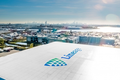 lineage roof with new york city view