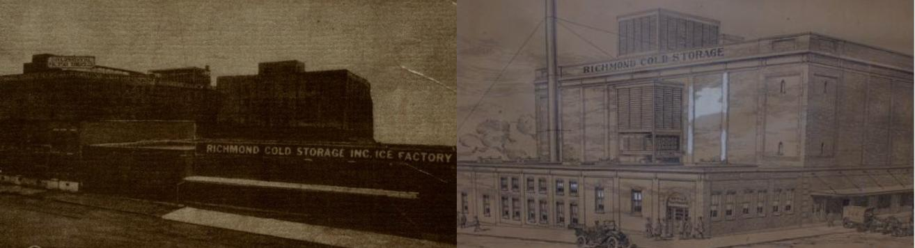 Side by side pictures of old Lineage Logistic buildings